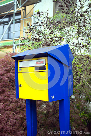 Swiss outdoor private postbox