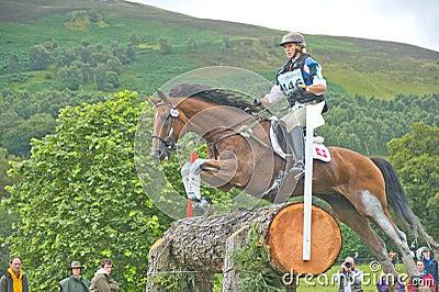 Swiss Rider: International Horse Trials 2011. Editorial Stock Photo