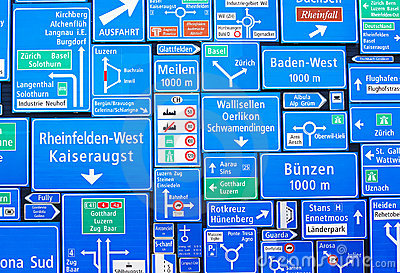 Swiss road signs