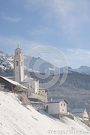 Swiss winter landscape