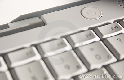 Switch-on computer button Stock Photo