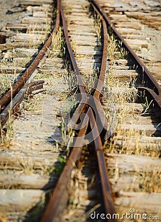 Free Switch On The Old Narrow-gauge Railway Stock Photos - 34759263
