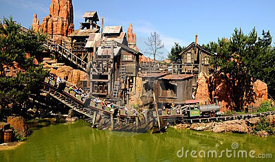 Switchback -Disneyland Paris Editorial Photography