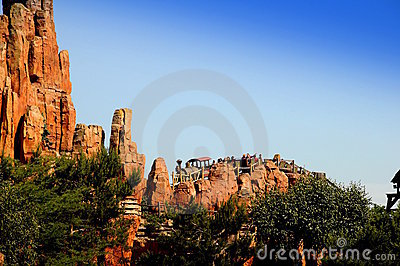 Switchback -Disneyland Paris Editorial Stock Photo