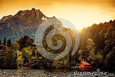 Switzerland Alps Sunrise