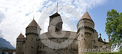 Switzerland - Chateau de Chillon on the lake Leman