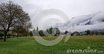 Switzerland, Interlaken,  view of the city and the