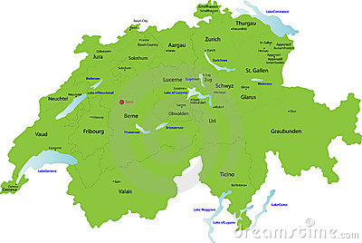 Switzerland map,
