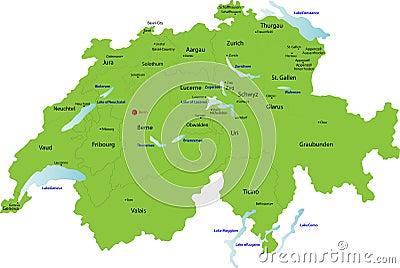 Switzerland map,