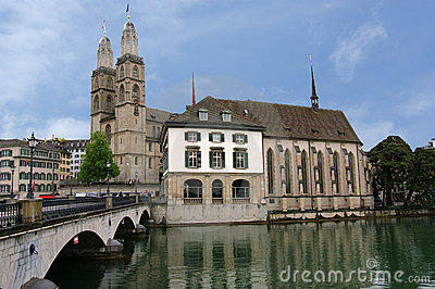 Switzerland, Zurich, view of the city