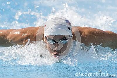SWM: World Aquatics Championship -  Mens 100m butterfly qualific Editorial Photo