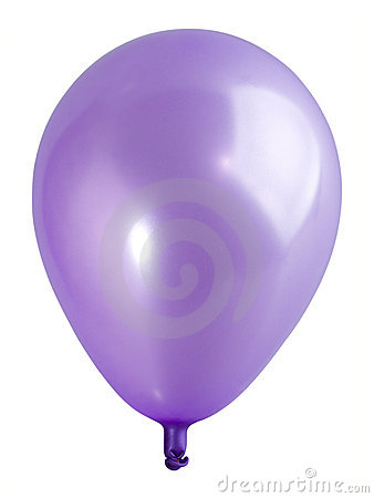 Swollen violet balloon