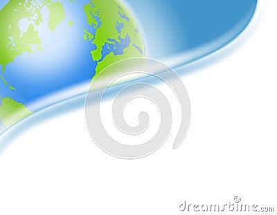 Swoosh Earth Corner Logo or Header