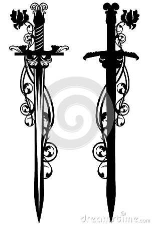 Free Sword Among Roses Stock Images - 44147284