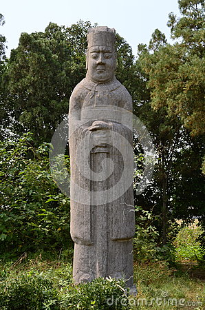 Sword Standing Guard Statue at Song Dynasty Tombs, China