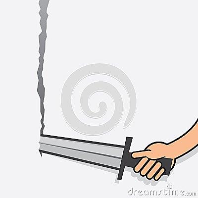Sword Tearing Paper Arm