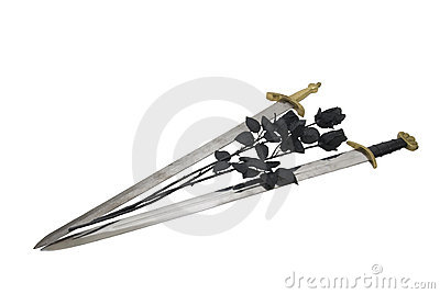 Swords and black roses