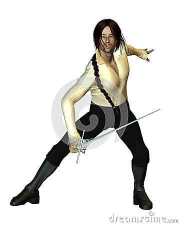 Swordsman Fencing