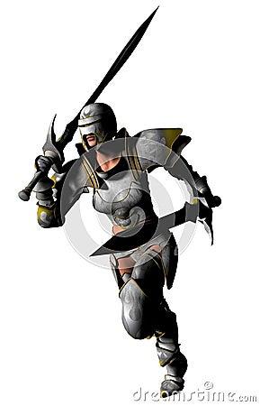 Swordswoman Runs
