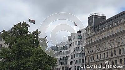 Sydafrika och UK-flaggor lager videofilmer