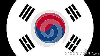 Sydkorea flaggaövergång 4K vektor illustrationer