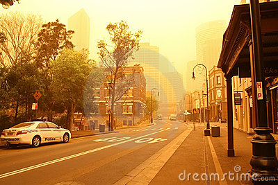Sydney, Australia, shrouded in dust storm. Editorial Image