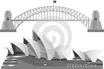 Sydney Australia Skyline Landmarks Editorial Stock Photo