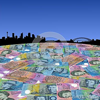 Sydney with Australian dollars