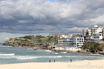 Bondi beach Sydney with Icebergs Editorial Image