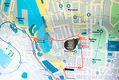 The sydney chengtie route map Editorial Photography