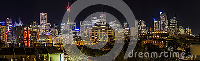Sydney City Scape at Night Editorial Image