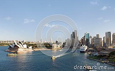 Sydney City Skyline Editorial Photography