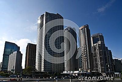 Sydney city tall skyscrapers buildings.