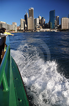 Sydney Ferry Arrives At Circular Quay Australia Editorial Photography