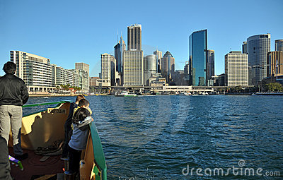 Sydney Ferry Sails Into Circular Quay Australia Editorial Image