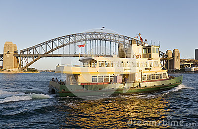 Sydney Ferry and Sydney Harbour Bridge