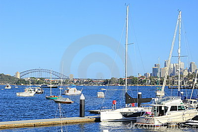 Sydney harbour with boats scenery Editorial Stock Photo