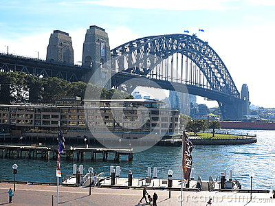 Sydney Harbour Bridge at The Rocks Editorial Stock Image