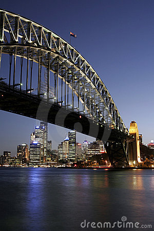Free Sydney Harbour Bridge At Night Stock Photography - 1732162