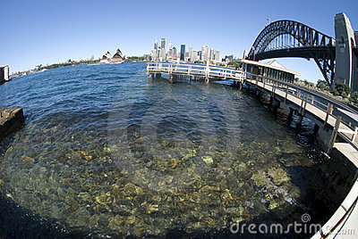 Sydney Harbour Bridge fisheye