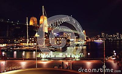Sydney Harbour Bridge by night, Australia