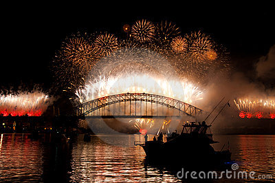 Sydney Harbour Bridge NYE Editorial Image