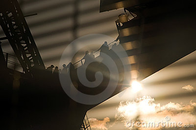 Sydney Harbour Bridge sunset walking