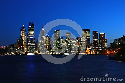 Sydney harbour at night Editorial Stock Photo