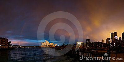 Sydney Harbour and Opera House Editorial Stock Photo