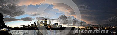 Sydney Harbour Panorama Editorial Image