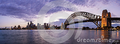 Sydney Harbour Panorama Fotografia Editoriale