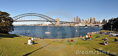 Sydney Harbour Panorama, Australia Editorial Stock Image
