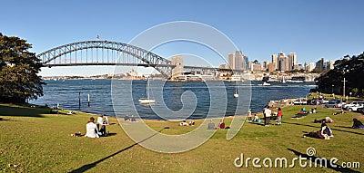 Sydney Harbour Panorama, Australia Editorial Stock Image