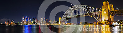 Sydney Harbour Panorama Editorial Photo